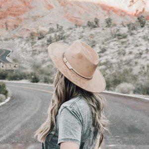 Tan Suede Rancher Hat - Savana